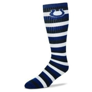 Indianapolis Colts Striped Knee High Tube Socks