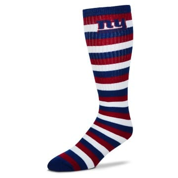 New York Giants Merchandise - Striped Knee High Tube Socks