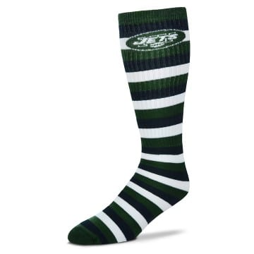 New York Jets Striped Knee High Tube Socks
