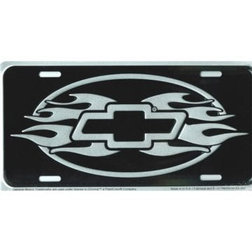 Chevrolet Merchandise - Flames License Plate
