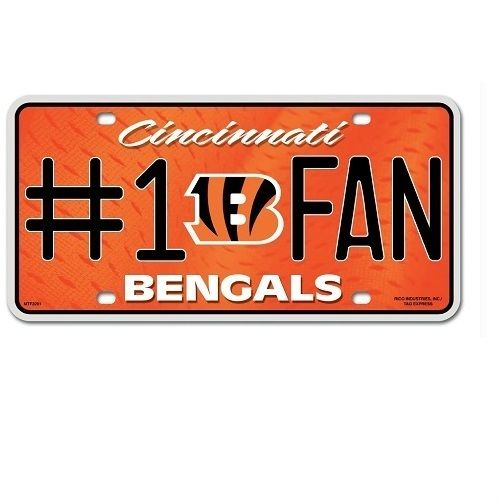 Cincinnati Bengals Fan License Plate
