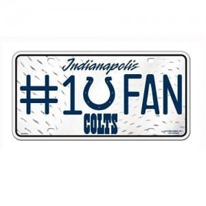 Indianapolis Colts Fan License Plate