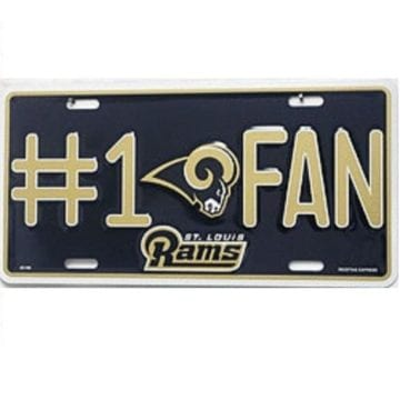 St Louis Rams Merchandise - Fan License Plate