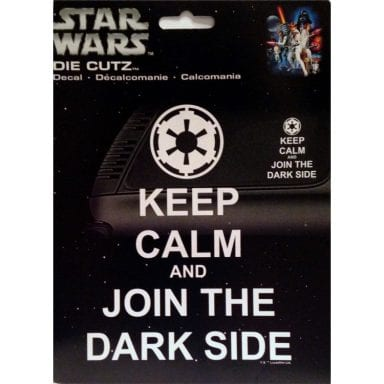 Star Wars Merchandise - Keep Calm Auto Decal