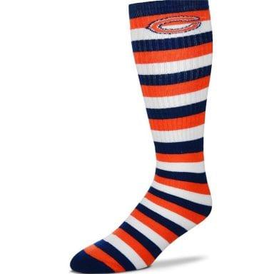 Chicago Bears Stripe Knee High Tube Socks