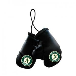 Oakland A's Mini Boxing Gloves