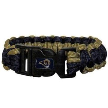 Los Angeles Rams Merchandise - Survival Paracord Bracelet
