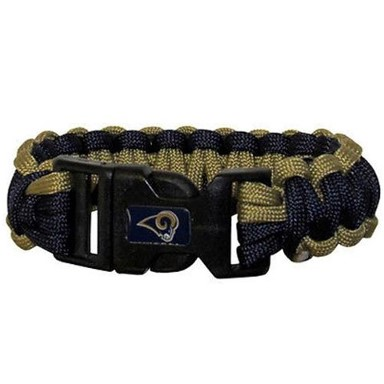 St Louis Rams Survival Paracord Bracelet