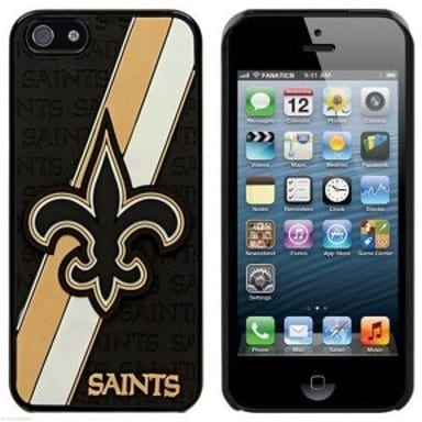 New Orleans Saints Striped Phone Case