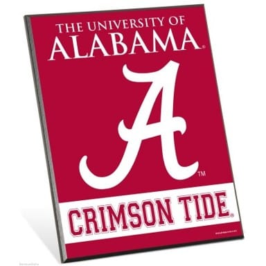 Alabama Crimson Tide Merchandise - Easel Sign