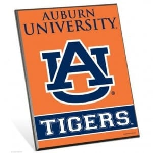 Auburn Tigers Easel Sign