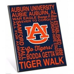 Auburn Tigers Phrases Easel Sign