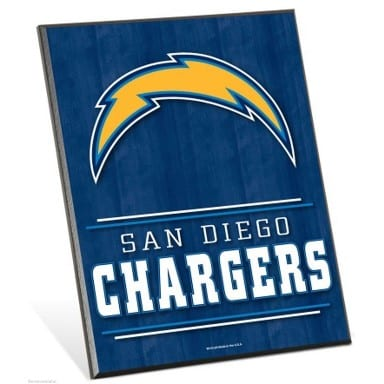 San Diego Chargers Easel Sign