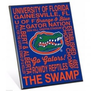 Florida Gators Phrase Easel Sign