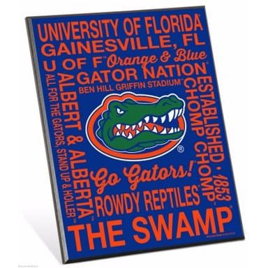 Florida Gators Merchandise - Phrase Easel Sign