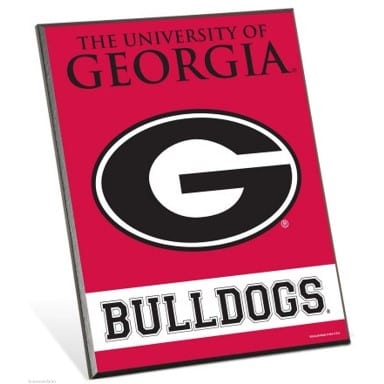 Georgia Bulldogs Merchandise - Easel Sign