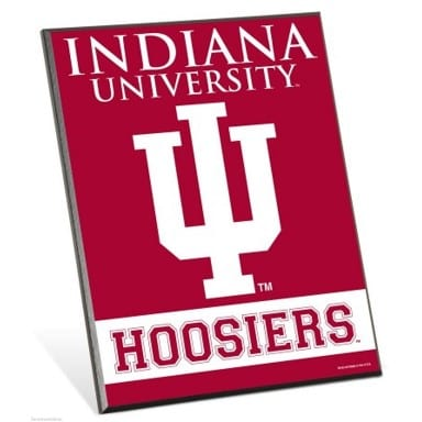 Indiana Hoosiers Easel Sign