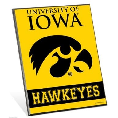 Iowa Hawkeyes Easel Sign