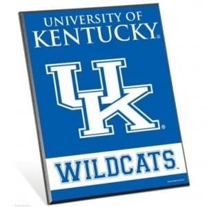 Kentucky Wildcats Easel Sign