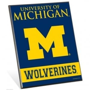 Michigan Wolverines Easel Sign