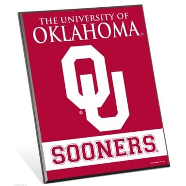 Oklahoma Sooners Easel Sign