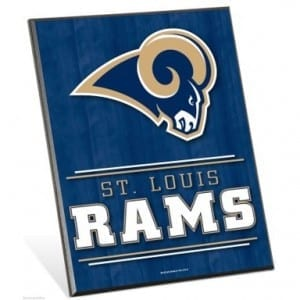 St Louis Rams Easel Sign