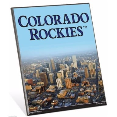 Colorado Rockies Easel Sign