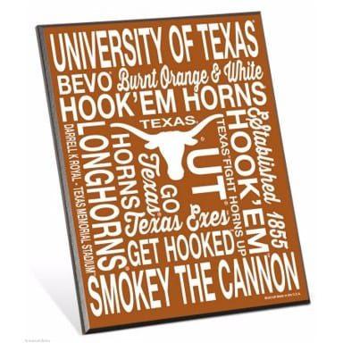 Texas Longhorns Merchandise - Easel Sign