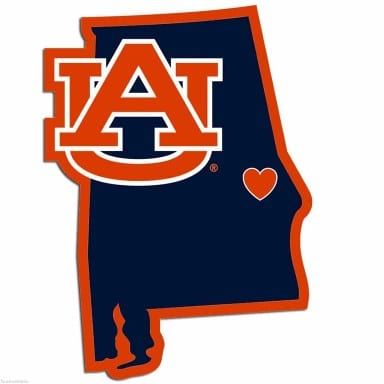 Auburn Tigers Merchandise - Home State Decal