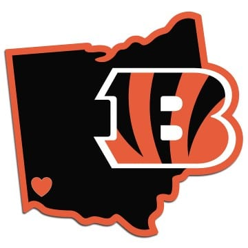 Cincinnati Bengals Merchandise - Home State Decal