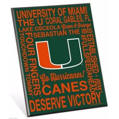 Miami Hurricanes Easel Sign