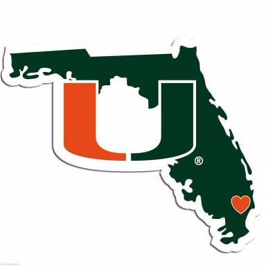Miami Hurricanes Merchandise - Home State Decal