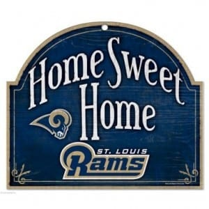 St Louis Rams Arched Sign