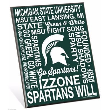 Michigan State Spartans Merchandise - Easel Sign