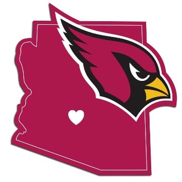 Arizona Cardinals Home State Decal