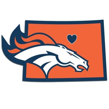 Denver Broncos Home State Decal