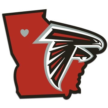 Atlanta Falcons Merchandise - Home State Decal