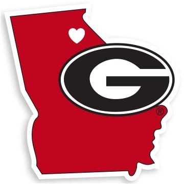 Georgia Bulldogs Merchandise - Home State Decal