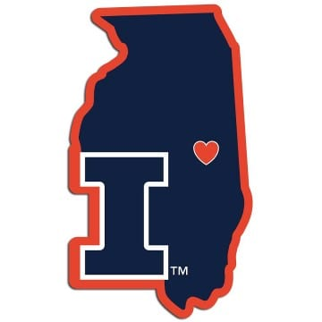 Illinois Fighting Illini Home State Decal