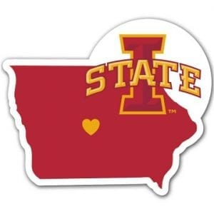 Iowa State Cyclones Home State Decal