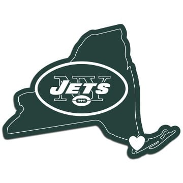 New York Jets Merchandise - Home State Decal