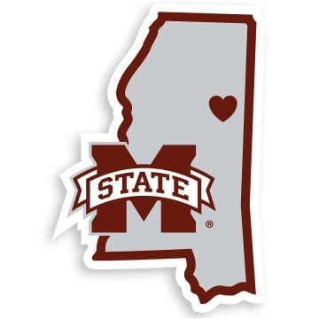 Mississippi State Bulldogs Merchandise - Home State Decal