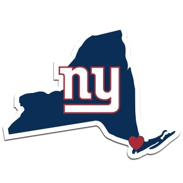 New York Giants Merchandise - Home State Decal