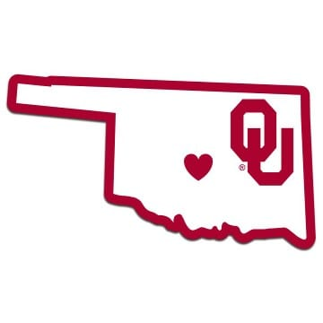Oklahoma Sooners Merchandise - Home State Decal
