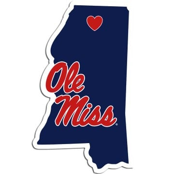 Ole Miss Rebels Home State Decal