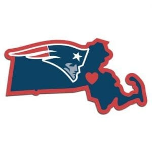 New England Patriots Home State Decal