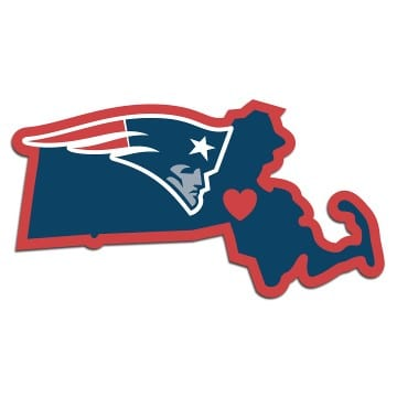 New England Patriots Merchandise - Home State Decal