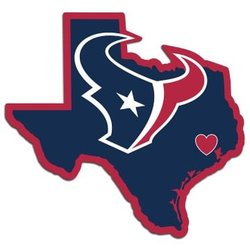 Houston Texans Home State Decal