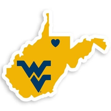 West Virginia Mountaineers Merchandise - Home State Decal