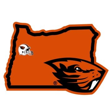Home State Decal - Oregon Beavers